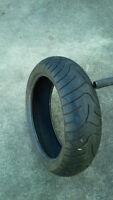 Rear sport bike tire 180/55 - 17