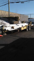 Large Tilting Flat bed trailer