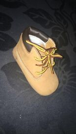 Baby timberland boots and hat