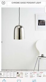 Chrome saige pendant light (brand new in box)
