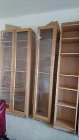 Ikea Billy bookcase with doors, tall cupboard, storage unit,