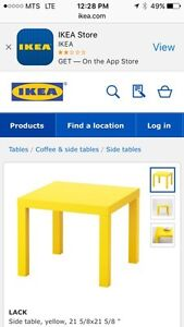 IKEA lack end table (red)