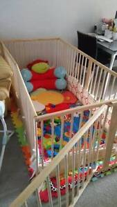 PLAYPEN BIG & SHAPEABLE ( pine wood), like new Calamvale Brisbane South West Preview