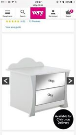 Rebecca Bedside Table RRP £59 * Non Mirrored Front *