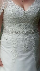 """Kenneth Winston Private Label by G"" ivory wedding dress $395"