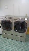 LG Real Steam Washer Dryer and Pedestals