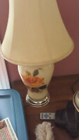 2 antique table lamps