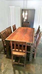 dinning set 8 seat , imported Malaysian timber... Ashmore Gold Coast City Preview