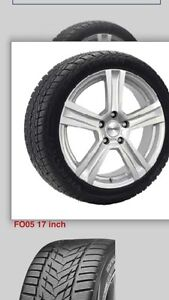 Winter package (tires on wheels) for 2016 Ford Escape.