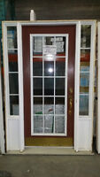 USED FRONT ENTRANCE DOOR WITH SIDELITES