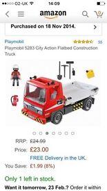 Playmobil flat bed construction truck 5283