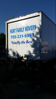STAY LOCAL with HUNT FAMILY MOVERS - IN  BARRIE