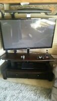 "52""TV, ps3, 2 cordls controllers, speaker system with cordls sub"