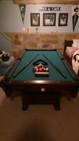 7' x 3.5' Pool Table with all  necessities