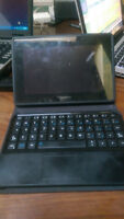 Blackberry notebook and keyboard