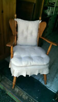 Vintage Solid Maple Rocking Chair