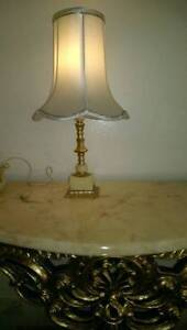 Rare 1920's antiques Superb Brass Carved Marble Lamp Gordon Ku-ring-gai Area Preview