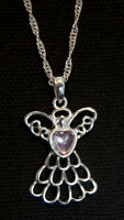 Beautiful Silver Angel Necklace