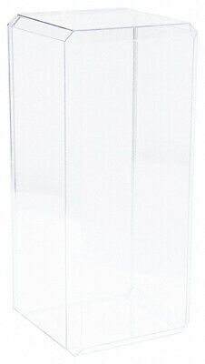 Pioneer Plastics Clear Acrylic Beveled Edge Display Case 7 X 6 X 15.5