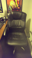Black Leather Computer / Desk Chair