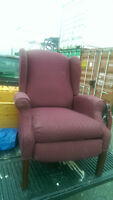 Burgundy Wing Back Recliner Chair