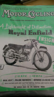 MOTOR CYCLING 1956 MAGAZINES