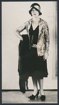 """1929 Hollywood Actress Fay Wray """"Models Latest Flapper Fashions"""" Vintage Photo"""