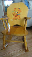 antique child's musical rocking chair