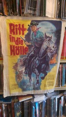 """Originalzeichnung Filmplakat """"Ritt in die Hölle"""" 1955 Heinz Bonné Gemälde"""