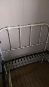 Cast Iron vintage single bed frame