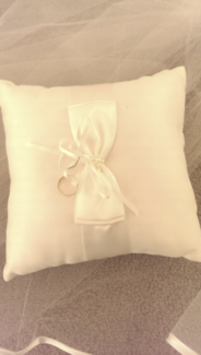 Wedding Ring Pillow Cushion Bearer in Ivory