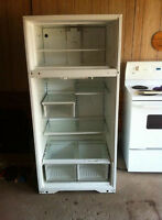 White fridge and stove for sale.
