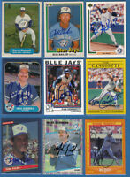 $5 SALE - Toronto Blue Jays SIGNED cards - AUTOGRAPHS - BASEBALL