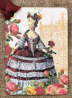 Hang Tags FRENCH PARIS MARIE ANTOINETTE TAGS or MAGNET #625 Gift Tags
