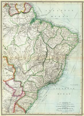 BRAZIL. South America. North-East 1907 old antique vintage map plan chart
