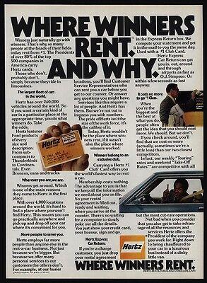 1979 O J  Simpson   Hertz Car Rental   Where Winners Rent   Vintage Ad