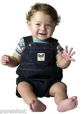 Under the Nile Organics Lap Shoulder Tee with Denim Overalls - NB-3 mo or 3-6 mo