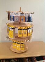 3-Tier Swivel Stand, fully loaded