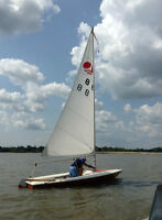 Sailboat with trailer
