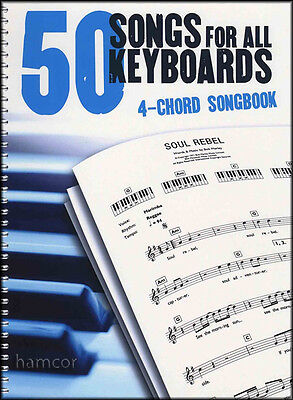 50 Songs for All Keyboards 4-Chord Songbook Sheet Music Book