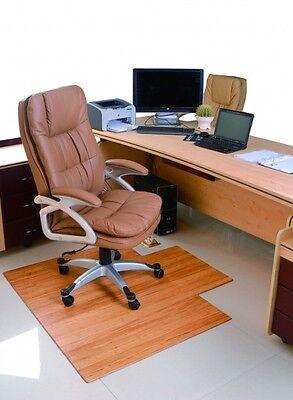 Bodenschutzmatte Bürostuhlunterlage  100% Bambus Natur  120 x 90 cm