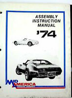 1974 corvette assembly  manual