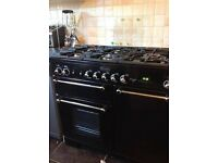 lpg rangemaster 100 dual fuel gas hob electric oven which can easely converted to normal gas