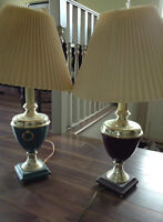Two lamps, same make different colours