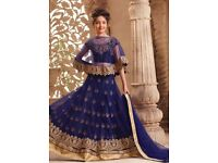 Navy Blue Girls Indian Lehenga Choli. Buy Girls Anarkali Online