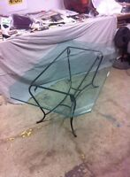 BEAUTIFUL BEVELED GLASS TOP TABLE