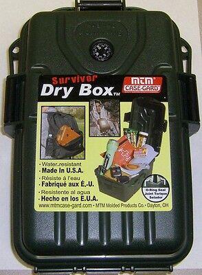 MTM Survivor Dry Box S1072-11 Forest Green Rafting Survival Gear New 10x7x3 Raft Dry Box
