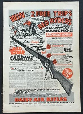 Red Ryder *Rocky Mt. Rancho* Daisy BB Ad 1941 for sale  Shipping to Canada