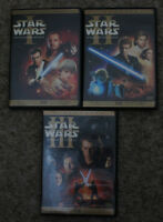 3 Star Wars DVDs, in mint condition.