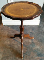 Antique Leather Bound Stand